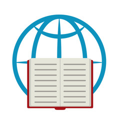 World book connection home education flat style vector