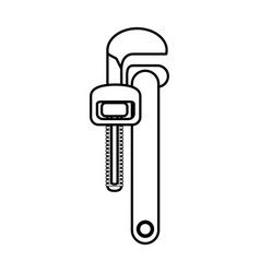wrench construction tool vector image