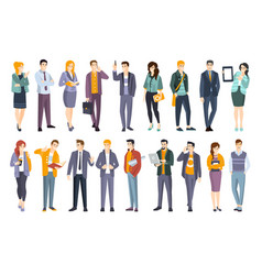 young professional confident people set vector image