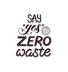 Zero waste poster vector