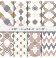 Collection of seamless ornamental patterns vector image vector image