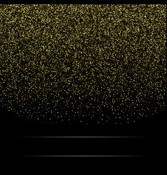 gold glitter background with sparkle shine light vector image vector image