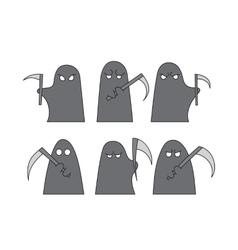 Grim reaper sketch vector image