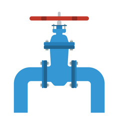 icon of pipe with valve vector image vector image