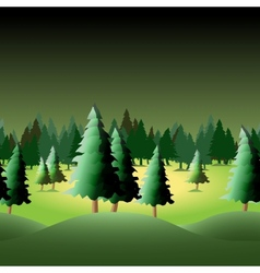 Seamless forest vector image