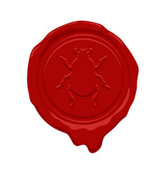 wax seal design vector image