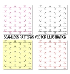 Four seamless pattern vector image vector image