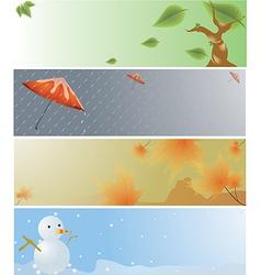 Four Seasons Banner vector image