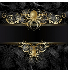 frame with spider vector image
