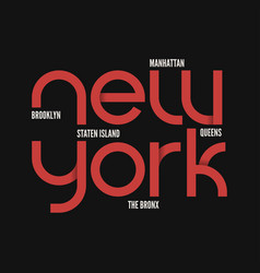 new york city t-shirt and apparel design vector image vector image