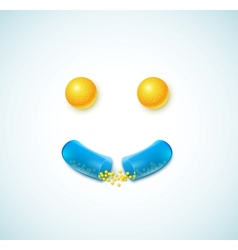 Smile of pills vector image