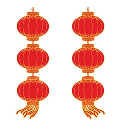 chinese lantern garland vector image vector image