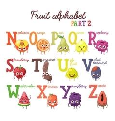 Fruit alphabet vector image