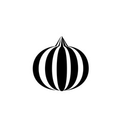 onion icon in trendy flat style isolated on white vector image vector image