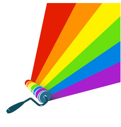 roller with paint stripes vector image vector image