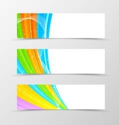 Set of header banner spectrum design vector image vector image