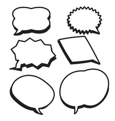 cartoon bubbles text boxes set with blank text vector image vector image