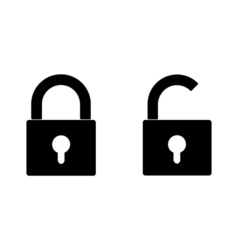 closed and opened locks vector image