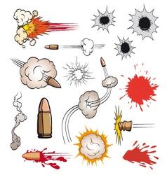 Comic book bullets set vector