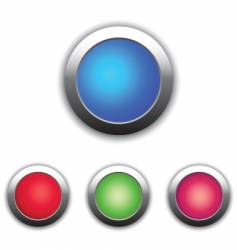 glossy buttons color vector image vector image