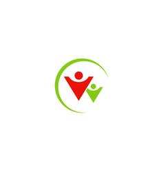 people leadership abstract logo vector image