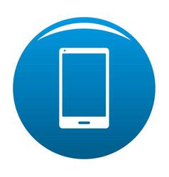 smartphone icon blue vector image