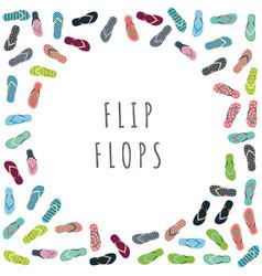 summer flip flops set vector image vector image