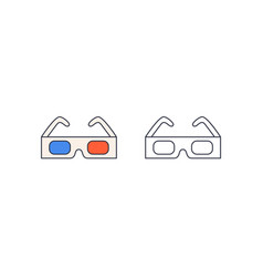 3d glasses three-dimensional vector image