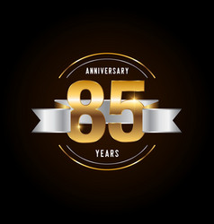 85 years anniversary celebration logotype golden vector