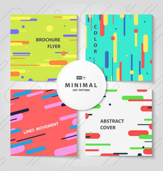 abstract colorful lines pattern cover brochure vector image