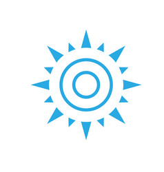 abstract simple sun icon isolated on white backgro vector image