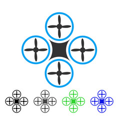 Air drone flat icon vector