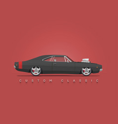 american classic muscle car vector image