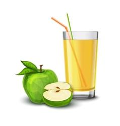 Apple juice glass vector