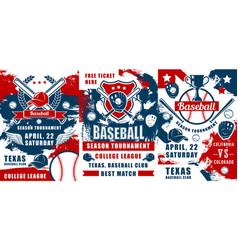 baseball trophies sport balls bats and gloves vector image
