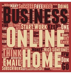 Basic Online Business Techniques text background vector image