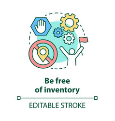 Be free inventory concept icon supply chain vector