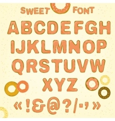 Beautiful Sweet font vector