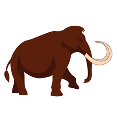 big mammoth on white background vector image