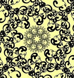 Black florid pattern vector
