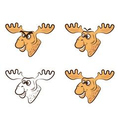 Cartoon elk vector