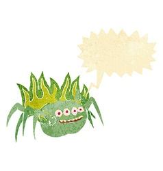 Cartoon spooky spider with speech bubble vector