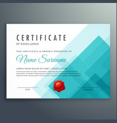 Certificate excellence template vector