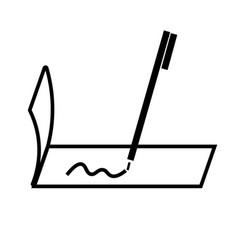 checkbook icon vector image