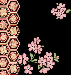 cherry blossom festival vector image