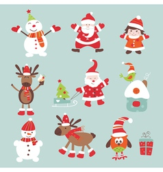 Christmas scrapbook set vector