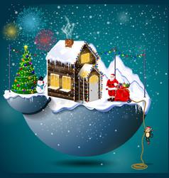 Christmas town vector
