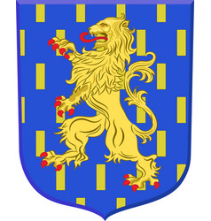 Coat of arms of auxerre in yonne in burgundy vector