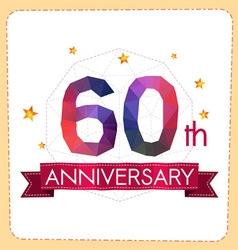 Colorful polygonal anniversary logo 2 060 vector