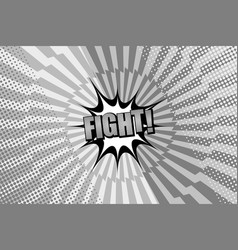 Comic page book monochrome fight concept vector